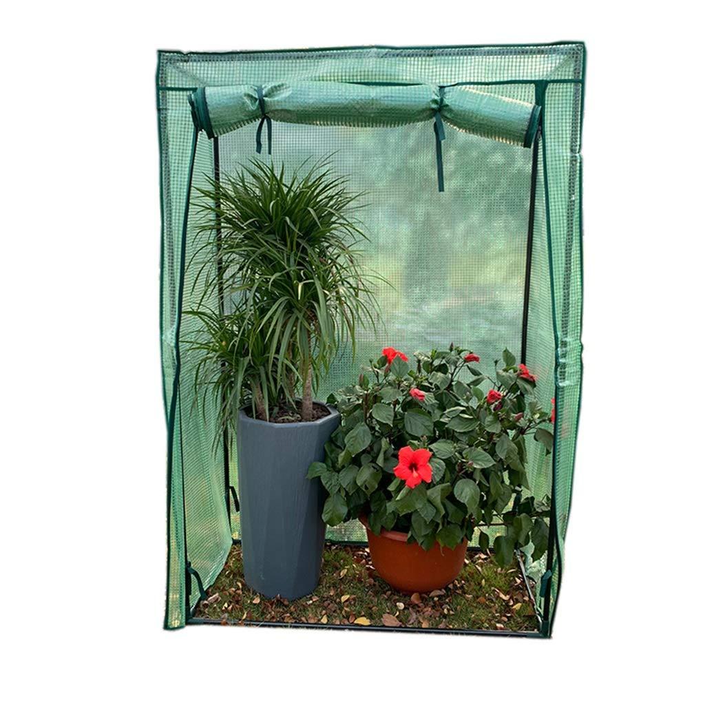 ビニールハウス 温室 室内用小型温室 - 庭用裏庭パティオ用冬ミニプラスチックグリーンハウス、100×48×150CM 家庭用 ガーデニング温室 B07MKGL3BD