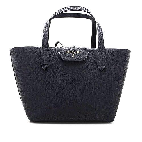 separation shoes 22646 5d1fc PATRIZIA PEPE Bag Female Tote Blue/DK.Grey Reversible ...