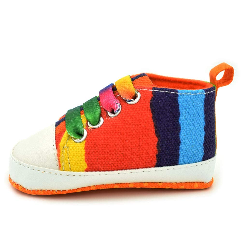 Abolai Newborn Boys and Girls Casual Rainbow Printed Shoes