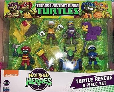 playmates industrial co. ltd Teenage Mutant Ninja Turtles TMNT Half Shell Heroes Turtle Rescue Action Figure 8-Pack