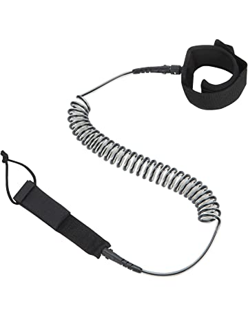 9d63b8923dc Coiled SUP Leash - iMusi Premium Design for Flat   Open Water Stand Up  Paddle Board