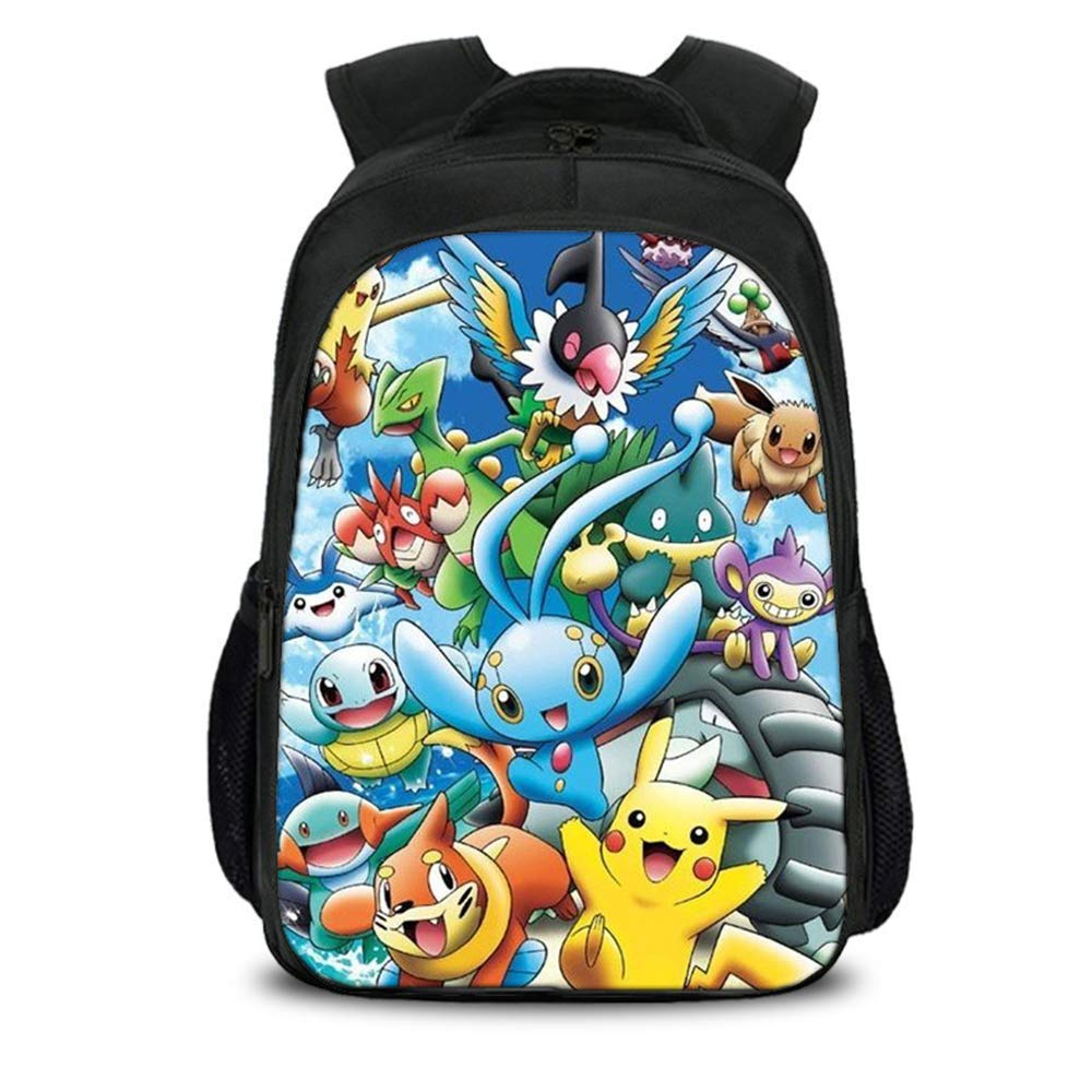 Kids Teen Pokem0n Cartoon Backpack Back to School Book Bag Backpack by BOLESHU