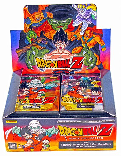 Dragon Cards Dragon Ball Z Trading (2015 Panini DBZ Dragonball Z TCG Card Game - MOVIE COLLECTION Booster Box - 24 packs/12 cards)