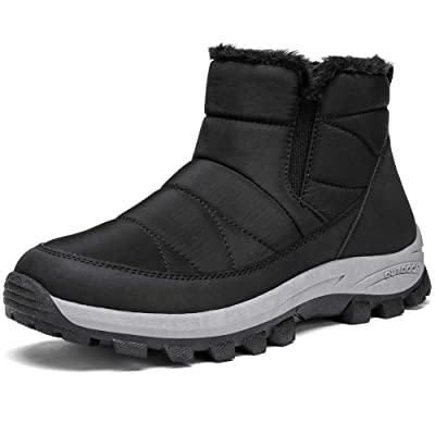 CAMEL Womens Winter Snow Boots Slip On Ankle Bootie Anti-Slip Fur Lined Short Boots Waterproof Outdoor Footwear | Snow Boots
