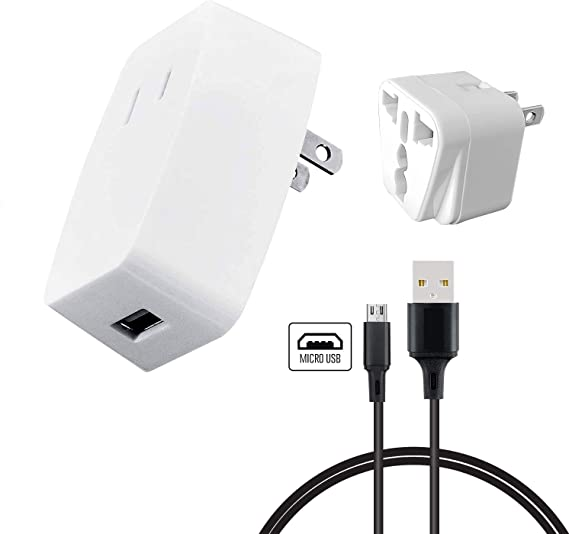 12W AC Wall Charger European Plug+6ft USB cable WHITE 4 iPad Pro Air 2 4 mini 3