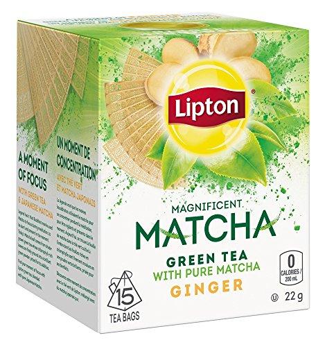 Lipton Matcha Green Ginger Tea 15 ct (Pack of 2)