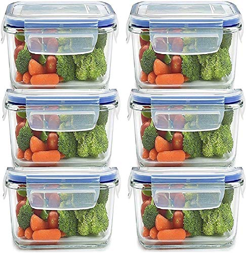 Rylan Plastic Airtight Food Storage Containers – 400ml, 6 Pc, White