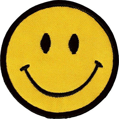 [1 X Smiley Happy / Smile Face Logo Badge Iron on Patches (Dia. 2 3/4
