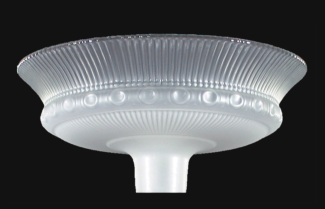 B&P Lamp 15 1/2'' Dia, Etched Rib & Clear Top Torchiere by B&P Lamp (Image #1)