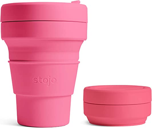 Stojo Collapsible Travel Cup in 2020 | Travel cup, Food