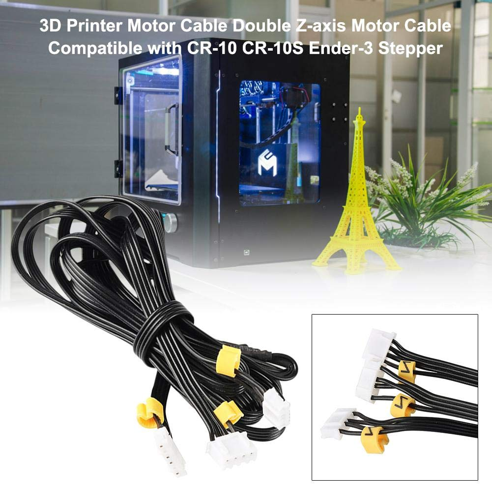 Lamptti 3D Printer Motor Cable Double Z-axis Motor Cable Compatible with CR-10 CR-10S Ender-3 Stepper