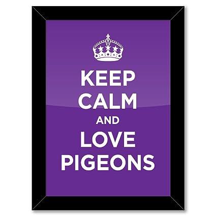 Marco de Póster: KEEP CALM amor palomas color morado lavanda WW2 ...