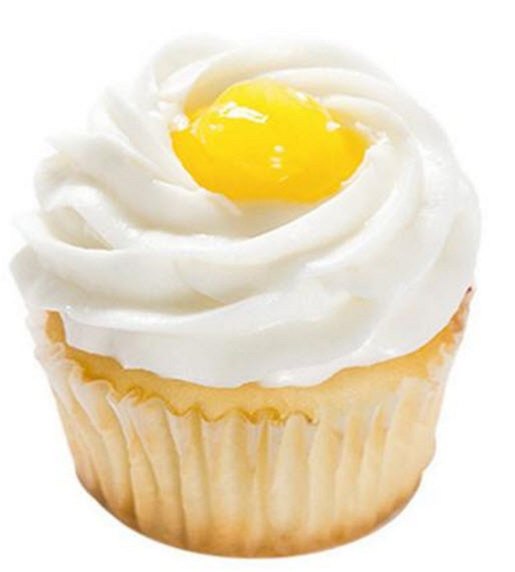 Lemon Cake Cupcakes - Lemon Curd Custard Vanilla Buttercream Dessert - 12 Pack - Baked Fresh Day of Order