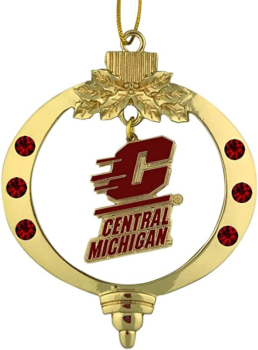 Central Michigan University|Snowflake Ornament|Pewter Inc LXG
