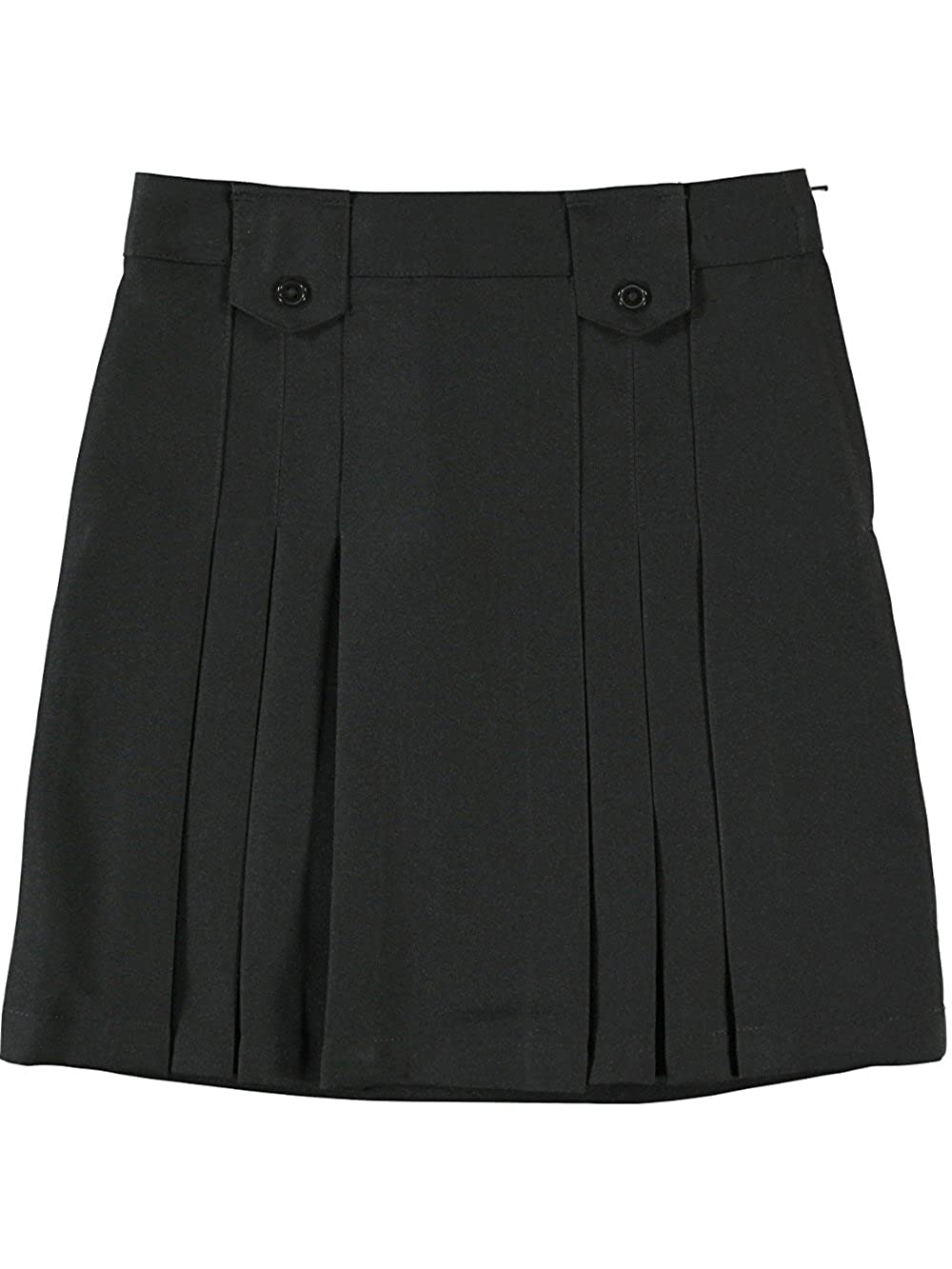 French Toast Big Girls' Pleat and Tab Skirt - black, 16