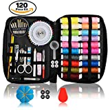 Image of Kanggardo Sewing Kit Over 120 Premium Sewing Supplies | Mini Beginners/Travel/Emergency Sewing Kit | Spools of Thread Different Colors, Sewing Kit With Scissors, Needles, Nail Clipper and Much More