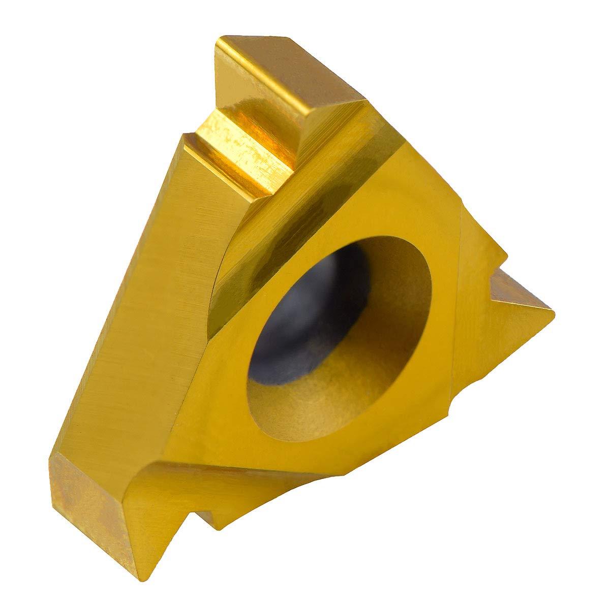 12 TPI Carbide TIAIN-Coated ; 16NR12UN-T10 MAXTOOL 10PCs 16NR12UN Internal American UN Full Profile Indexable Threading Inserts 3//8 I.C