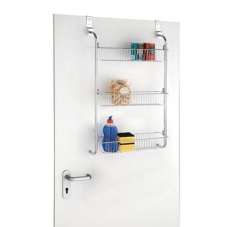Taylor & Brown® 3 Tier Chrome Over Door Hanging Kitchen Bathroom ...