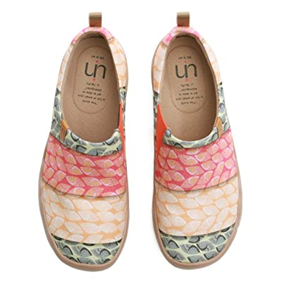 UIN Women's Nude Cotton Travel Painted Canvas Slip-On Ladies Fashion Art Sneaker Loafer Shoes | Loafers & Slip-Ons