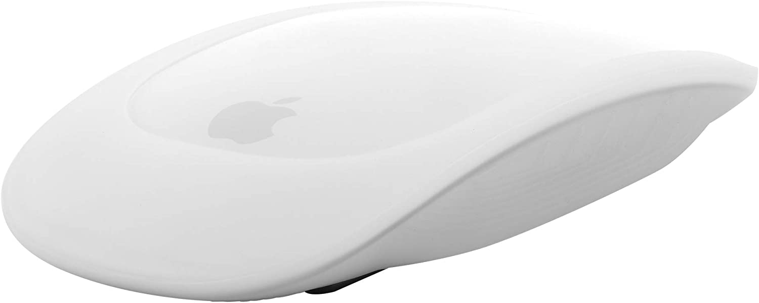 TXEsign Mouse Cover Silicone Case for Apple Magic Mouse 1/2, Ultra-Thin Protective Case Cover (Translucent White)