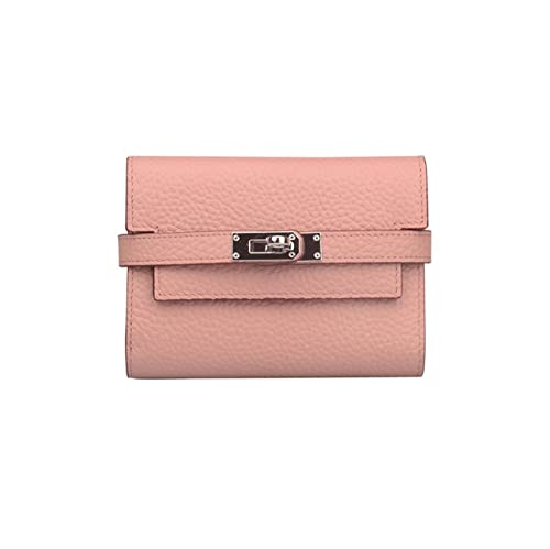 c4f1db218845 Anifeel Women's Padlock Genuine Leather Small Wallets Purse Billfold