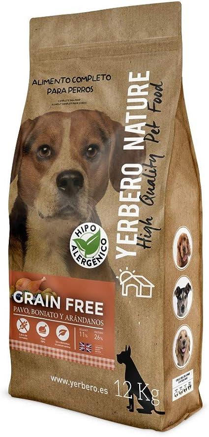 YERBERO Nature Grain Free de Pavo Comida para Perros SIN Cereales 12kg