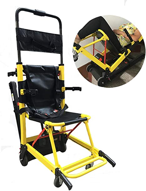 WHYIT Subida eléctrica Silla de Ruedas sobre orugas Plegable hacia Arriba Abajo escaleras Escalador Antiguo Discapacitados Transporte Cuatro Ruedas Viaje Peso Propio 30 kg, Capacidad de Carga 160 kg: Amazon.es: Deportes y