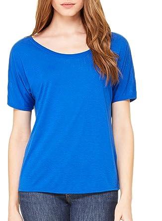 27b34245f Bella + Canvas Womens Slouchy T-Shirt (8816) TRUE ROYAL: Amazon.co.uk:  Clothing
