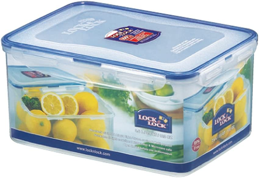 LOCK & LOCK 122-Fluid Ounce Rectangular Food Container, Short, 15-Cup