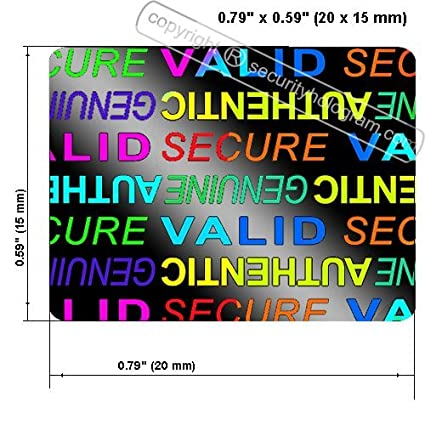 Amazon com: 63 3D Stickers Protective Security Holograms