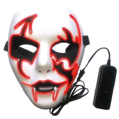 Luminoso Máscara Fiesta De Halloween Props,F Verde