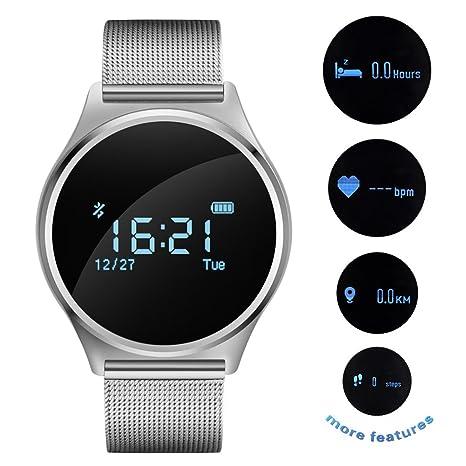 Monitor de frecuencia cardíaca reloj, pulsera inteligente ...
