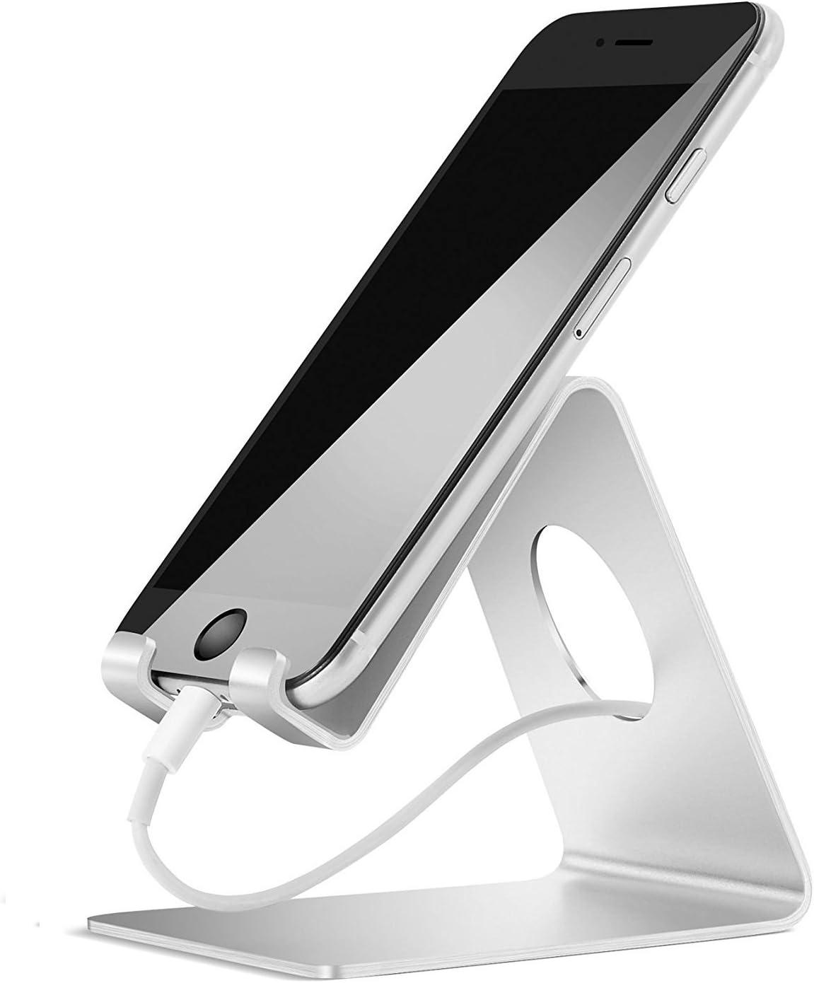 REY Soporte Mesa Aluminio para Movil Tablet Atril Metal Base ...