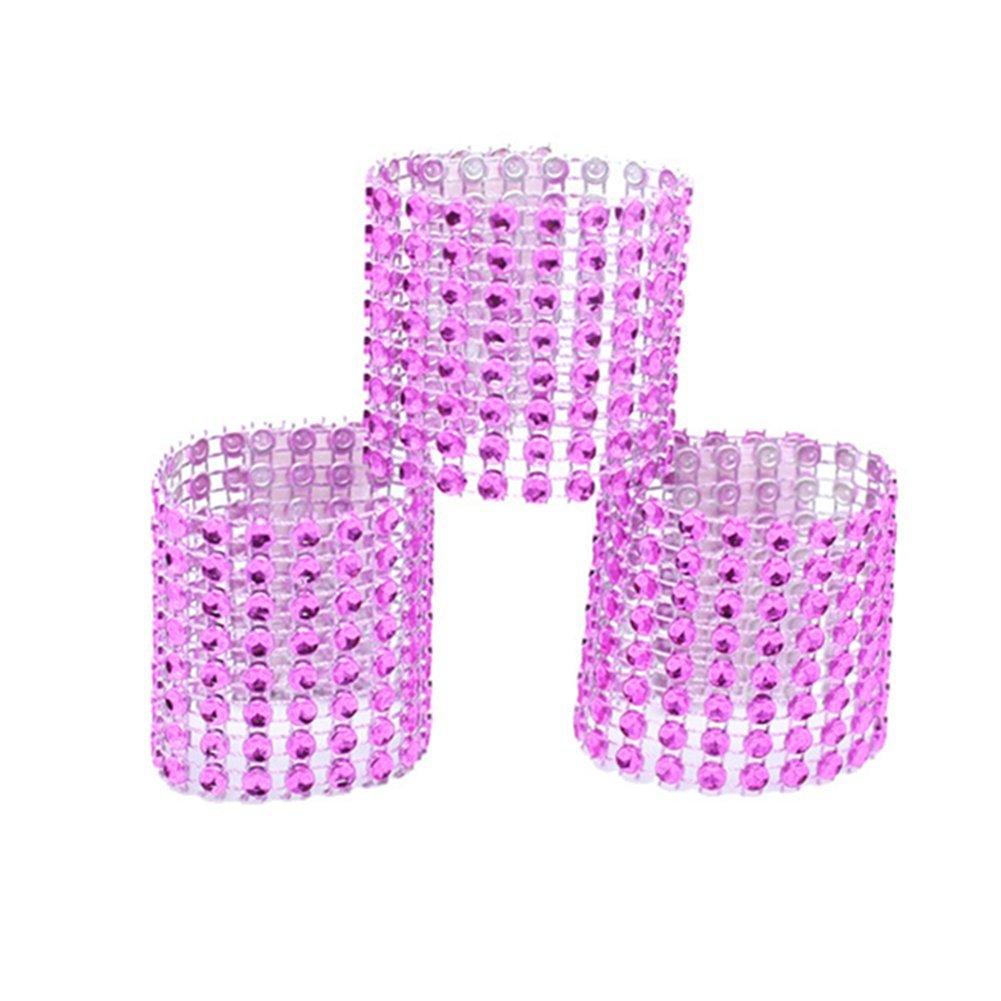 Amazon.com: Jiamingyang 50pcs Napkin Rings Rhinestone Napkin Rings ...