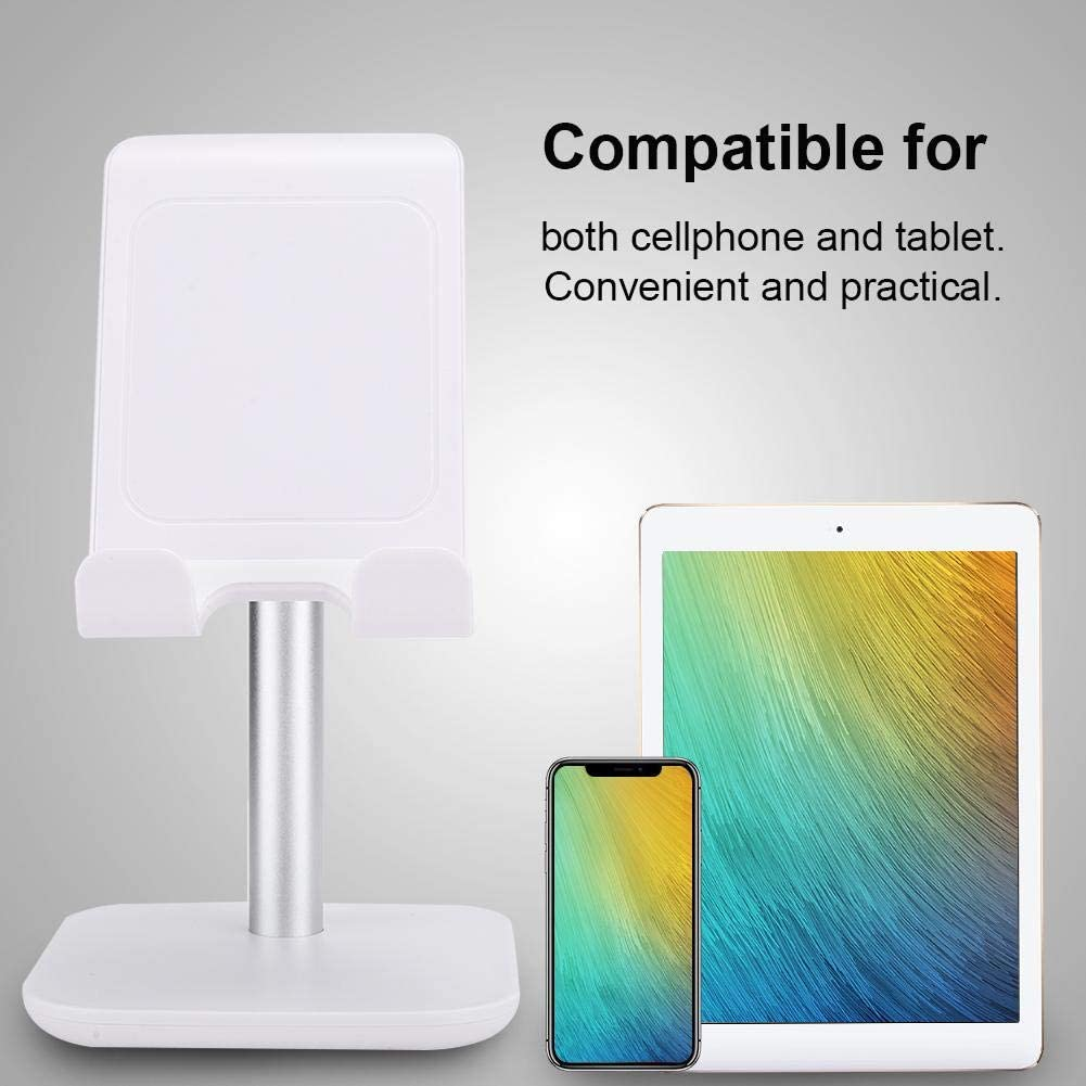 White Zopsc Wireless Phone Charging Stand Desktop Wireless Quick Charging Dock Mobile Phone Tablet Charger Stand Holder for iOS//Samsung//Huawei//Xiaomi