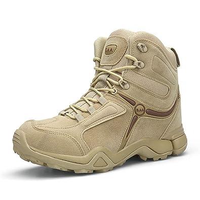 SANANG Scarpe da Trekking Militari da Uomo in Pelle Scamosciata, Stivali Tattici e Antiscivolo, Scarpe da Trekking