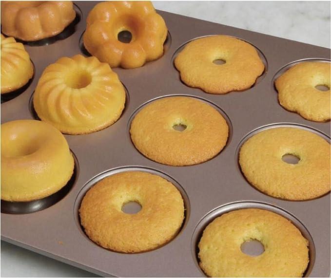 MFFACAI Molde de Donuts de Metal Hogar Molde de Pan Hueco ...