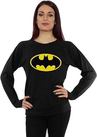 DC Comics mujer Batman Logo Camisa de entrenamiento: Amazon.es: Ropa y accesorios