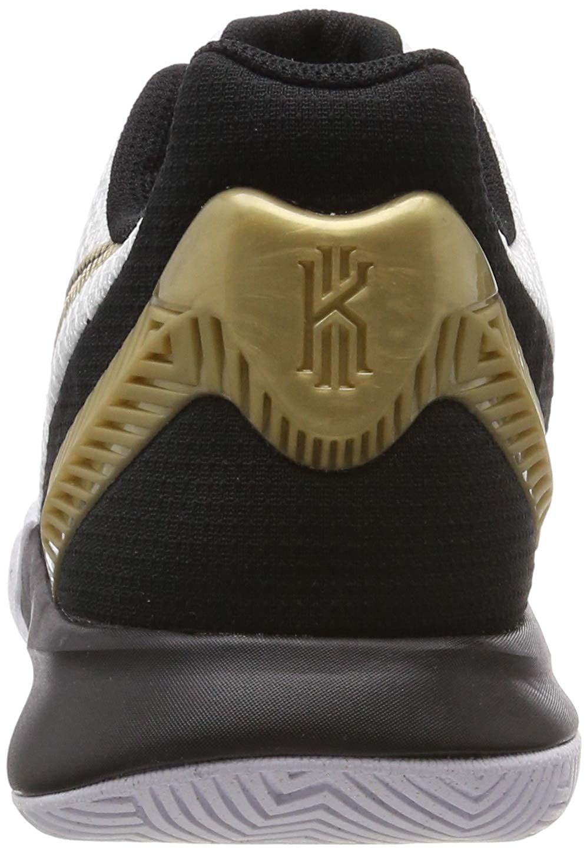 Nike Men s Kyrie Flytrap II Basketball Shoes, White Metallic Gold-Black US 9