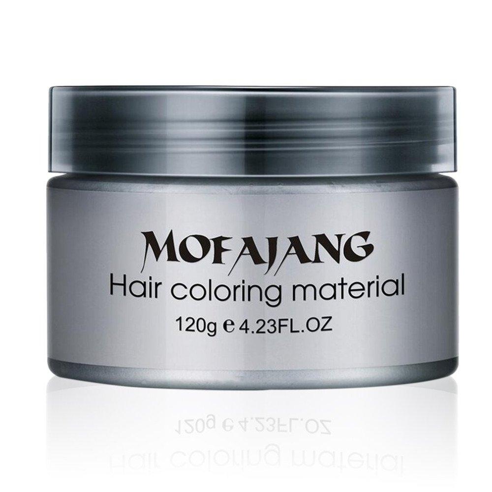 Temporary Silver Gray Hair Wax Natural Ash Matte