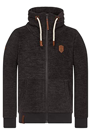 Naketano Der Gedudelte hooded zipper blue grey