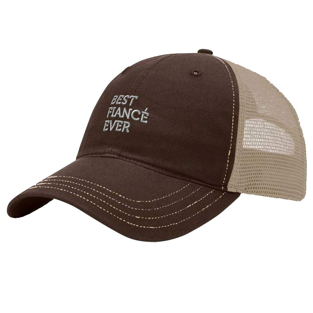 Custom Trucker Hat Richardson Best Fiance Ever Embroidery Soft Mesh Cap Snaps