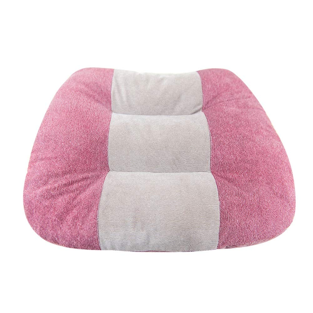 Thicken Office Chair Cushion car Sofa seat Cushion Bed Head Multifunctional Warm Cushion (Color : Pink) by LNYJ