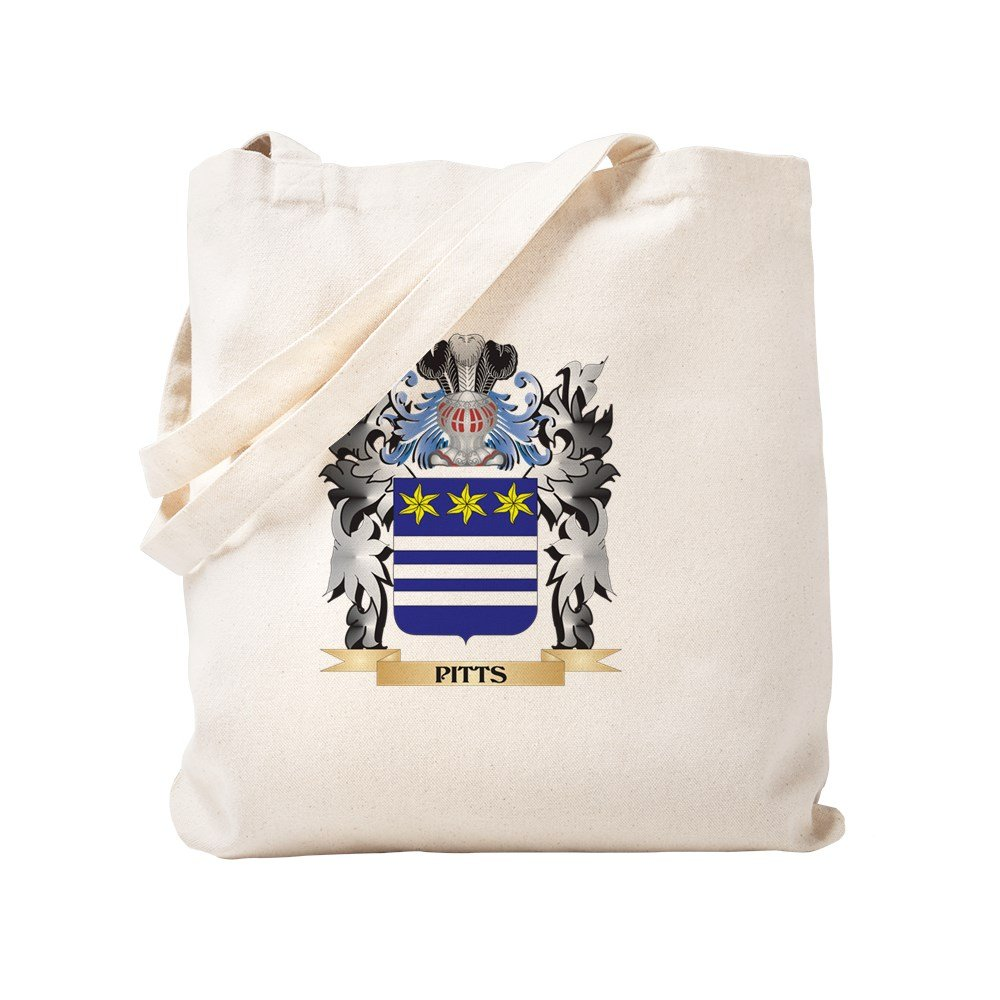 CafePress - Pitts Coat Of Arms - Family Crest - Natural Canvas Tote Bag, Cloth Shopping Bag