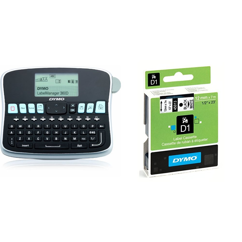 Dymo S0784440 Label Manager 210D Label Maker Qwerty Keyboard printer address sticker Reference