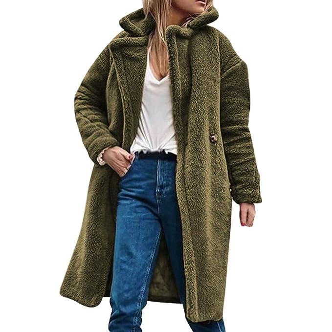 BBestseller Caliente Abrigo Invierno Mujer Chaqueta Suéter Jersey Mujer Solapa Cardigan Mujer Tallas Grandes Sweatshirts Outwear Sudadera: Amazon.es: Ropa y ...
