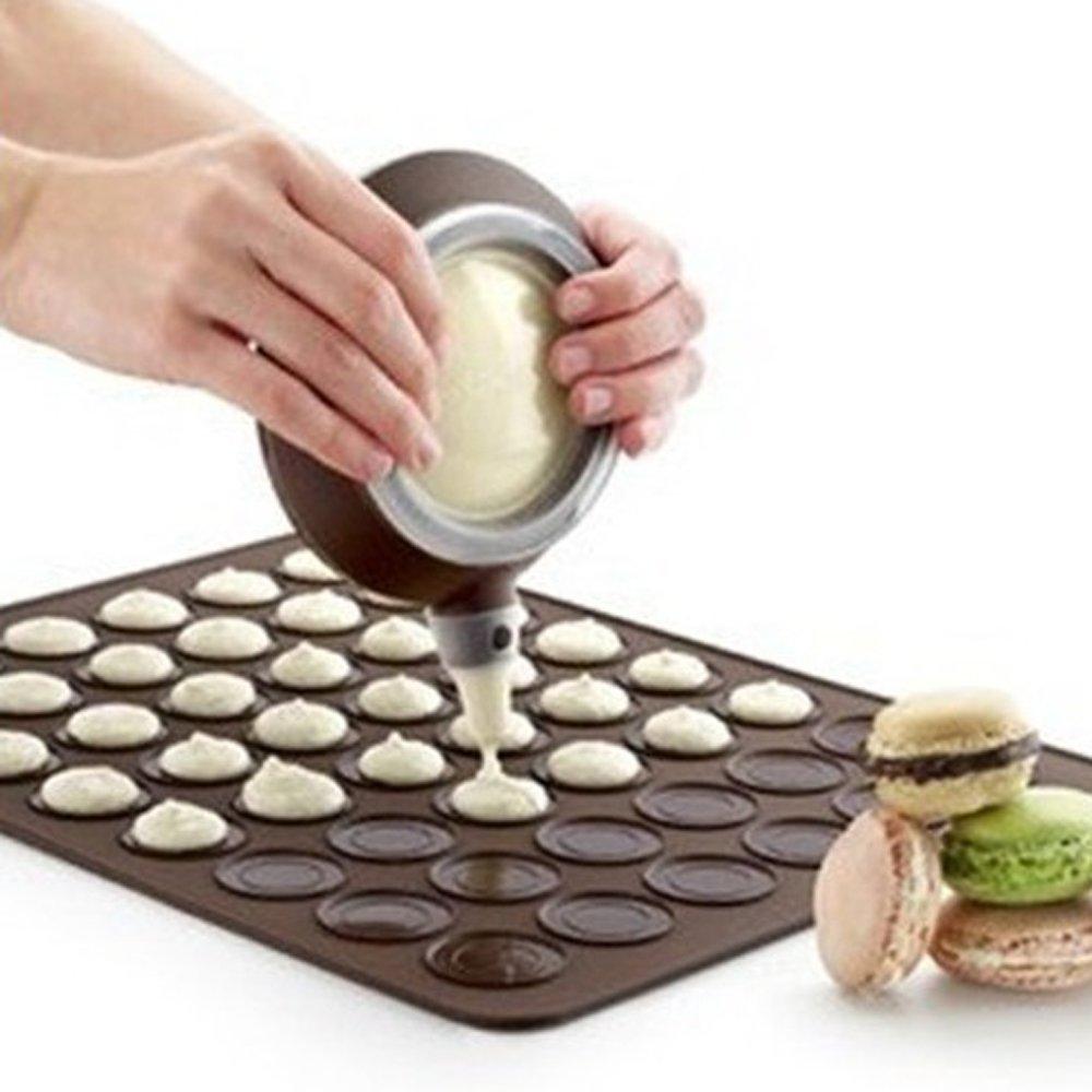Kofun Macarons Mat, Macarons Mat Round 30 Holes Silicone Pad Design Oven Fit Microwave Baking Tools