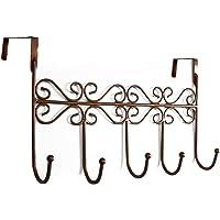 Youdepot Over The Door 5 Hanger Rack - Decorative Metal Hanger Holder for Home Office Use