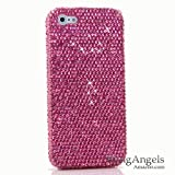 iPhone 6S Bling Case, iPhone 6 Case - LUXADDICTION® [Premium Quality] 3D Handmade Crystallized Bling Case Swarovski Crystals Diamond Sparkle Hot Pink Crystals Design Cover for iPhone 6 / 6S