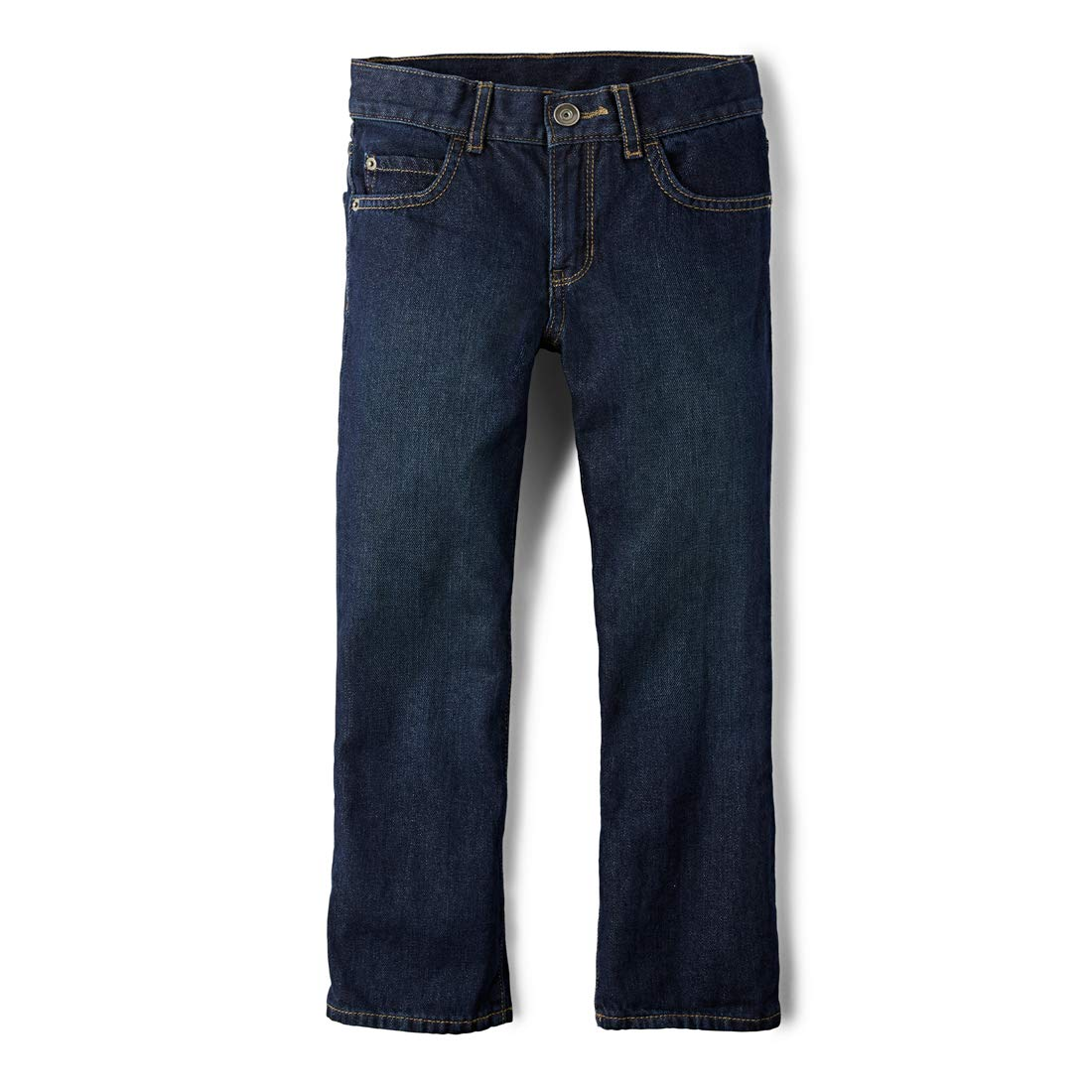 The Children's Place Big Boys' Bootcut-Jeans, Authentic Wash, 8 by The Children's Place